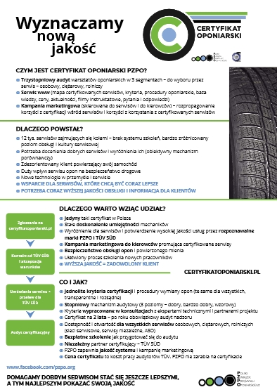 Certification of Tyre Services - We provide new quality